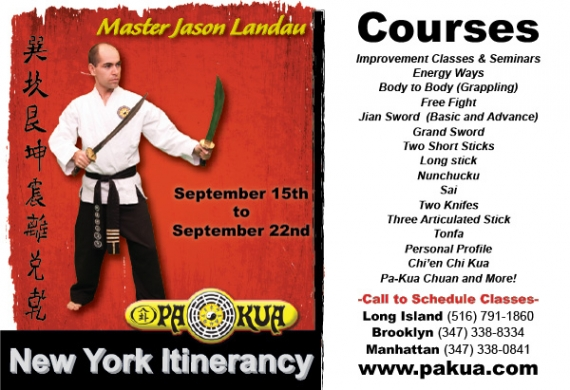 Master Jason Landau New York Itinerancy