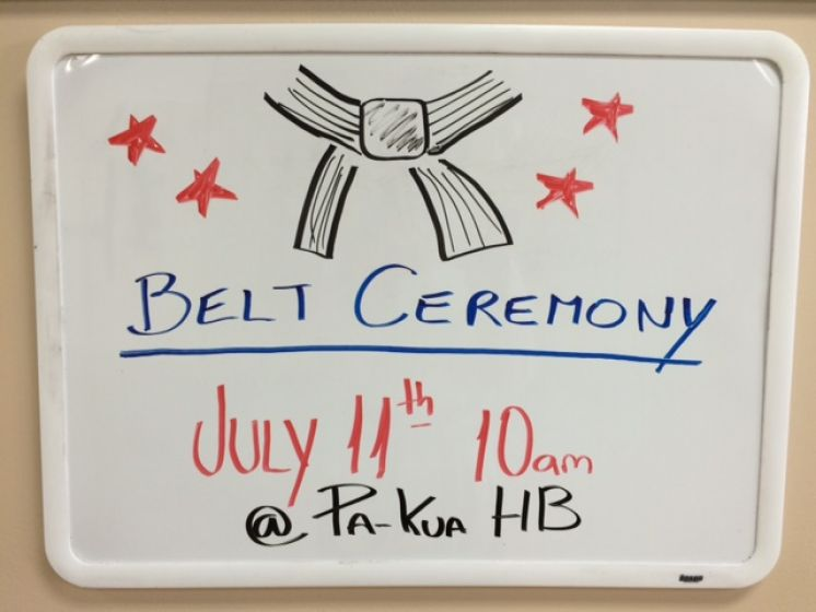 SATURDAY JULY 11th BELT CEREMONY