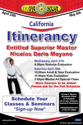 Entitled Superior Master Nicolas Moyano April Itinerancy