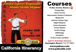 E.S.R. Master Moyano October Itinerancy